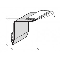 Protection d'angles rentrants adhésives en Aluminium, Inox
