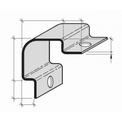 Cornières de protection d'angles à sceller en Aluminium, Inox