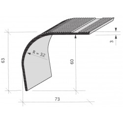 Nez de marches strié Aluminium filé 668070
