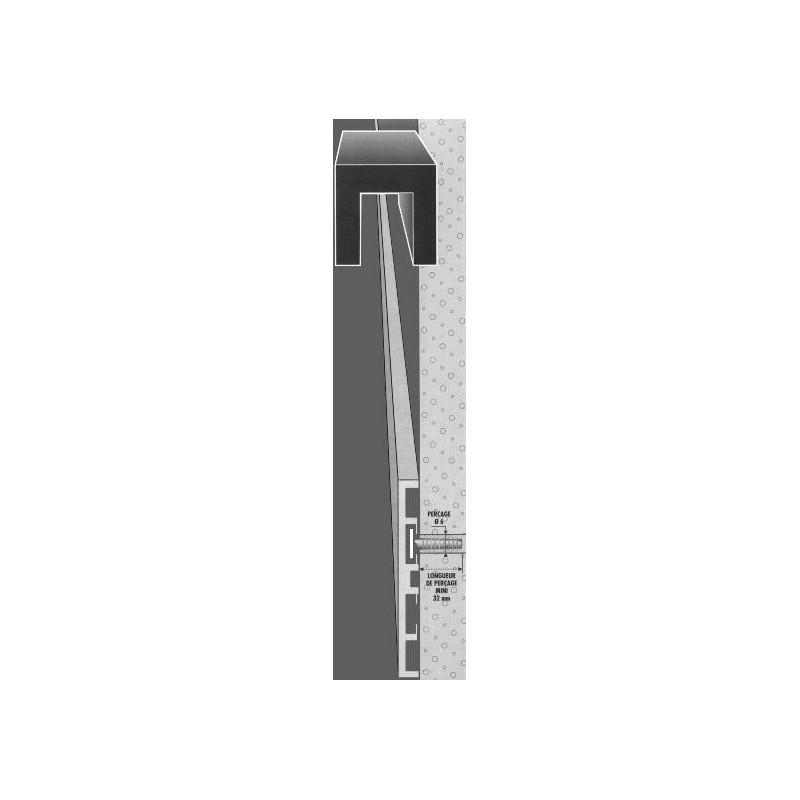 plinthe aluminium fil anodis incolore 968070 adesol tego. Black Bedroom Furniture Sets. Home Design Ideas