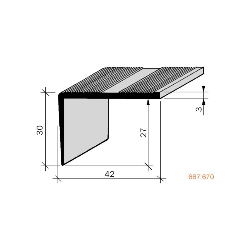 nez de marches stri aluminium fil 667670 adesol tego. Black Bedroom Furniture Sets. Home Design Ideas