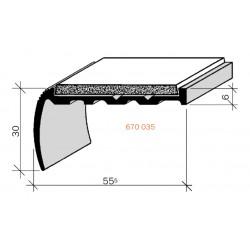 Nez de marches à Bandes Antidérapantes Aluminium, filé brut Aderoband 65 S 670035