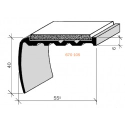 Nez de marches à bandes antidérapantes aluminium, filé brut aderoband 65 S 670105