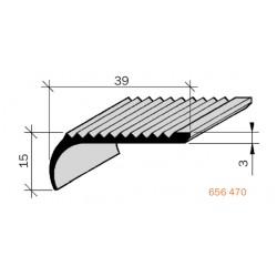 Nez de marches strié Laiton filé, poli 656470