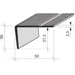 nez de marches strié Aluminium filé, anodisé, incolore