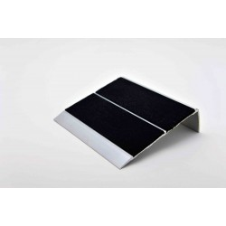 Nez de marches à bandes antidérapantes aluminium, filé brut  aderoband 65 S 670165