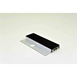 Nez de marches à bandes antidérapantes aluminium, filé brut avec arrêt de revêtement carrelage  670825