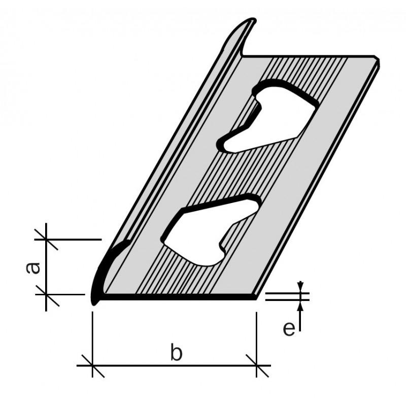 Arr t de carrelage ou de r sine 1 4 de rond aluminium for Profile carrelage inox