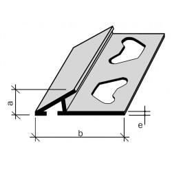 """Arrêt rattrape-niveau Aluminium, Filé brut """"RATRAPNIVO"""" ou Laiton filé brut"""