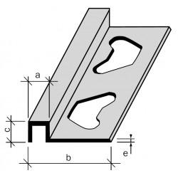 Arrêt Profilé Aluminium,  Filé,  brut ou anodisé incolore