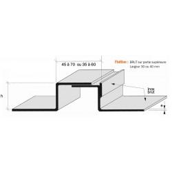 Joint de dilatation Inox plié, brut ou poli brossé grain 220 COUVRESOL 60 +