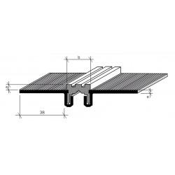 Joint de dilatation Aluminium filé, brut AJCS 20/3, 20/5, 25/8