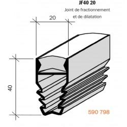 Joint de fractionnement pour sol  JF 40 20 PVC