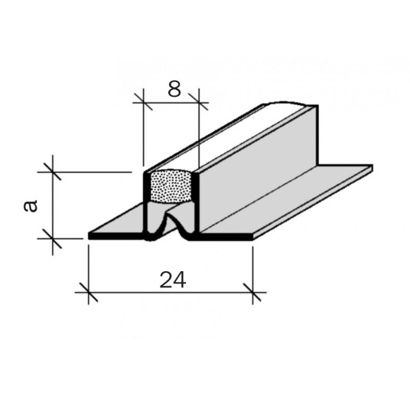 Joint de fractionnement pour sol jf 10 pvc adesol tego - Joint de fractionnement ...