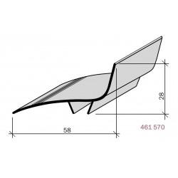 Couvre-joint aluminium d'angle pour façade