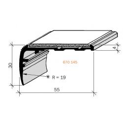 Nez de marches à bandes antidérapantes aluminium, filé brut aderoband 65 S 670145