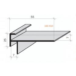 Arrêt de revêtement double pour marches & gradins aluminium