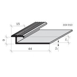 Arrêt de revêtement double pour marches & gradins Aluminium Filé anodisé incolore 164910