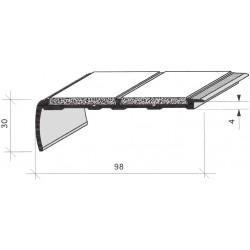 Nez de marches à bandes antidérapantes aluminium, filé brut aderoband 65 S 670830