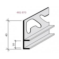Joint creux aluminium filé anodisé incolore 461670