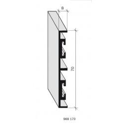 Plinthe aluminium filé, anodisé incolore 968170