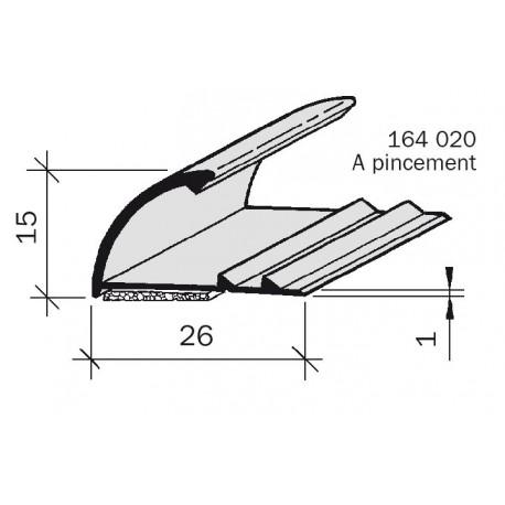 Arrêt de revêtement aluminium à pincement 164020