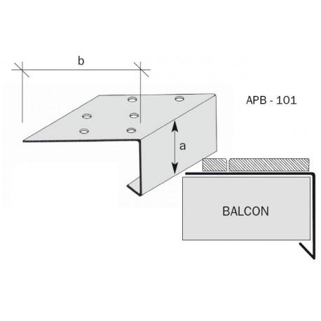Nez de balcon aluminium brut, anodisé, prélaqué APB101