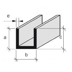 Coulisse aluminium filé brut anodisé incolore