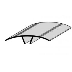 Couvre-joint PVC de façade PLAT