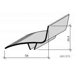 Couvre-joint PVC d'angle pour façade