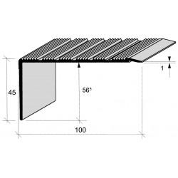 Nez de marches strié aluminium filé 668770