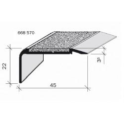Nez de marches à bandes antidérapantes aluminium, filé aderoband 78W 668570