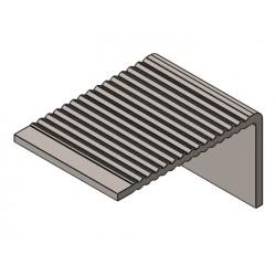 Nez de marches INOX 30,5 x 51,5 mm pose encastrée TRAFIC INTENSE